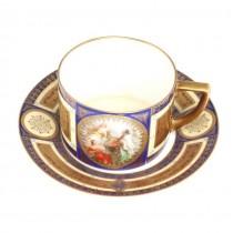 Deux-piece pentru servirea cafelei - Calais - atelier Pfeiffer & Lowenstein cca.1920