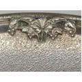 Rafinat platou din argint decorat cu jasp natural - Italia cca. 1950