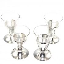 Garnitura de patru cupe moderniste, pentru cocktail - atelier Hoka - Germania