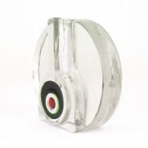 Inedită vază modernistă, tip soliflor | Space Age | designer Heiner Duesterhaus | atelier Walther Glass | cca.1972