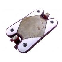 Taburet berber - șa de cămilă - piele naturală - Maroc