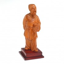 Statuetă sculptată în lemn de cișmir - Zhang Sanfeng - cca. 1960 China