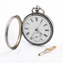 Ceas de buzunar din argint | mecanism fusee | atelier A. Livingstone - Manchester 1892