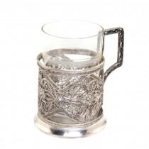 """Suport """" Podstakannik """" pentru pahar de ceai - atelier Kazakovsky - Rusia cca.1960"""