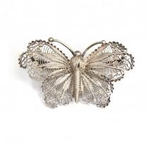 Veche broșă din argint filigranat | Fluture | anii '30 - perioada Fascio - Italia