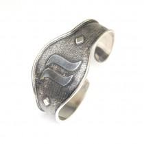 Brățară modernistă balineză | Cuff | argint patinat | Indonezia
