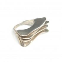 Inel statement futurist | manufactură în argint | Statele Unite