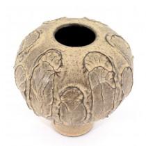 Vază ceramică modernistă | Mid-century |  lucrare semnată | Suedia cca.1960