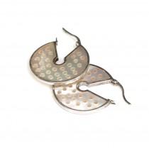 Rafinați cercei creole | argint & sidef natural | atelier Roxy - Statele Unite