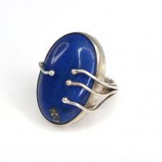 Impresionant inel statement | argint & lapis lazuli | India