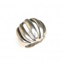 "Inel statement, design minimalist contemporan   argint ""cire perdue""   Mexic"