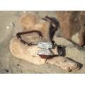Colier statement tuareg   Houmane   argint, carneol și granate   unicat - Niger
