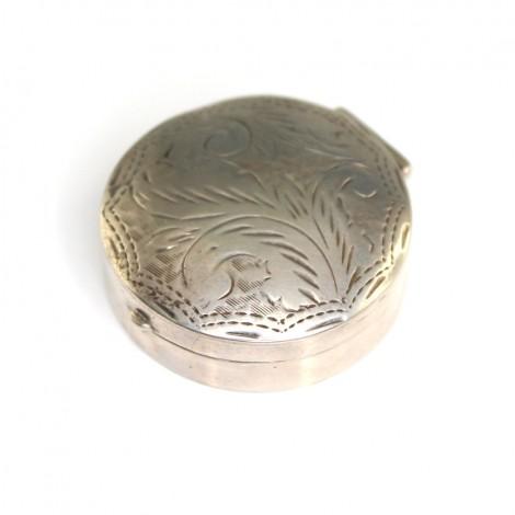 Cutiuță din argint, pentru pastile sau pomadă | manufactură de atelier italian