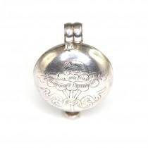 Veche amuletă tibetană Ghau | manufactură în argint | Nepal