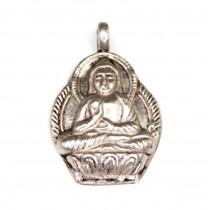 Veche amuletă nepaleză | Buddha | manufactură în argint | cca. 1900