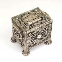 Casetă iudaică, pentru mirodenii | Havdalah | argint filigranat | Israel