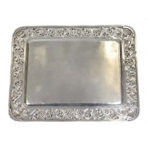 Impresionant platou noclasic | manufactură în argint | atelier Luis Espunes - Madrid cca. 1900