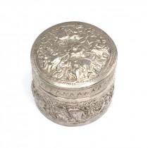Veche casetă burmeză pentru betel și mirodenii  | manufactură în argint | cca. 1900