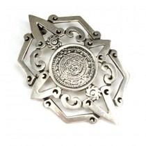 Lavalieră-pandant statement | Azteca | manufactura in argint | Mexic