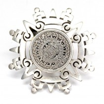 Lavalieră-pandant Azteca | manufactura in argint | Mexic