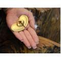 Broșă statement modernistă | Tairona Culture | oțel placat cu aur 24k | Columbia