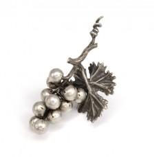 Pandant - miniatură  din argint | Ciorchine de struguri | Italia