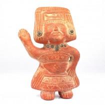 Statuetă din ceramică arsă | Azteca -  Ocēlōtl | Mexic