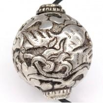 Colier cu veche amuletă japoneză | Phoenix Hou - ou | argint | perioadă Meiji