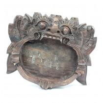 Inedită scrumieră balineză | Barong | sculptură în lemn de tec | Indonezia