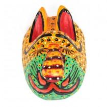 Mască decorativă Jaguar-Shaman | Guatemala | lemn sculptat și policromat