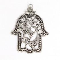 Veche amuletă iudeo-berberă | Khamsa ( Hamsa ) | argint | cca. 1920 Tunisia