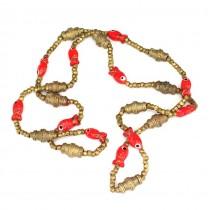 "Vechi colier cu amulete iudeo-berbere | ""slave trade beads"" | Tunisia cca.1930"