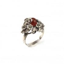 Superb inel în stil Art Nouveau   argint & carnelian   atelier padovan   Italia