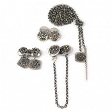 Rafinat set de bijuterii scandinave | argint | atelier  James Silver Smedja | Suedia
