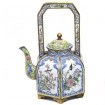 Splendid ceainic chinezesc | alamă cloisonné | cca. 1910 |  perioada Qing