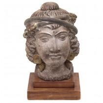 Impresionantă sculptură ceramică | Împărăteasa Atossa a Persiei | cca.1920 Belgia