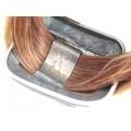 Bijuterie de artă : Impresionantă brățară contemporary din argint & păr de cal | Suedia