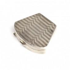 Cutiuță Art Deco, pentru pastile sau pomadă | manufactură în argint | Italia
