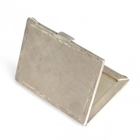 Veche ramă foto miniaturală, de voiaj | manufactură în argint | Italia