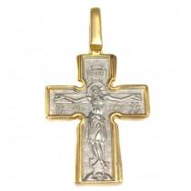 Pandant religios ortodox | Iisus pe Cruce & Maica Domnului cu Sfinții Ierarhi | atelier Yuri Fedorov - Rusia