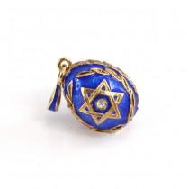 "Pandant religios "" Steaua lui David "" | stil Faberge | argint aurit și emailat | Rusia"