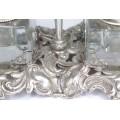 Splendidă encrieră neoclasică din argint & cristal bizotat   atelier Peruggia & C.   Italia cca.1940