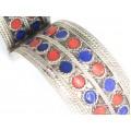 Veche casetă pentru bijuterii & brățară berberă | cupru argintat și emailat | Maroc
