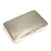 Casetă Art Deco, pentru tutun |  ''Snuff box'' | manufactură în argint | cca.1920