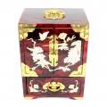 Dulăpior vintage, chinezesc, Xi Xi, pentru bijuterii | lacquer, sidef și alamă | cca.1970