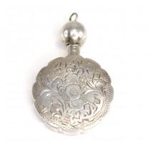 Rafinat pandant - flacon din argint, pentru parfum | manufactură de atelier vienez | cca.1925