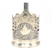Suport din argint,  Podstakannik , pentru pahar de ceai | Rusia Imperială cca.1910