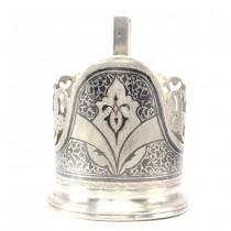 Suport Podstakannik din argint, pentru pahar de ceai  | Art Nouveau | cca.1910