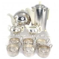 RAR : Set Art Deco - Bauhaus, pentru ceai și cafea | 10 piese | atelier WMF cca.1945