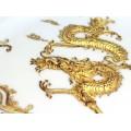 Rafinată farfurie decorativă chinezească | pictură în fier Wuhu, cu aur coloidal | China cca. 1970